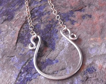 Horseshoe Necklace, Anastasia Steele Inspired 50 Shades of Grey, Anastasia Necklace, Lucky charm