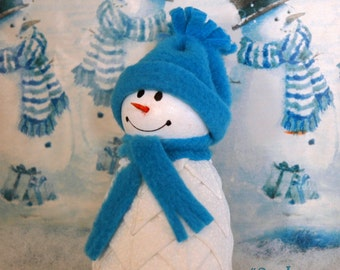 Snowman Quilted Fabric Ornament Kit - Cool Buddy