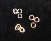 Gold Open Jump Rings, 14k Solid Gold, Yellow, White or Rose Gold