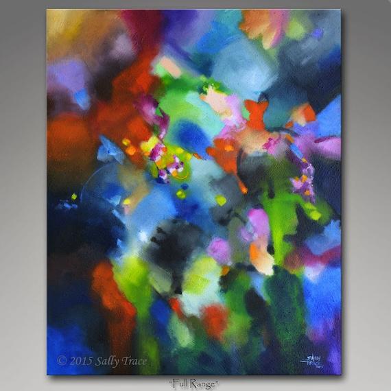 Original abstract textured mixed media acrylic painting for Textured acrylic abstract paintings