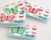 Butterfly Thank You Mini Card Gift Enclosure Cards with Envelopes
