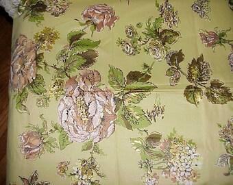 Vintage Everglaze Polished Cotton Fabric 1 yard 10 inches