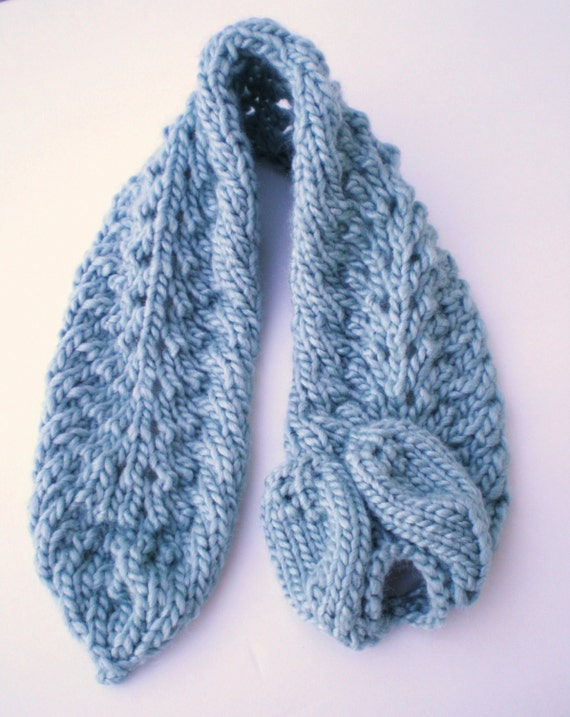 Knitting Patterns For Collar Scarf : Instant Download Knitting Patterns - Hat, Collar Scarf and Glove Pattern Set ...