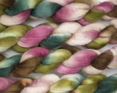 Handpainted Bluefaced Leicester Wool Roving in Lily Pond by Blarney Yarn