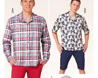 Burda Style Sewing PATTERN - 6814 - Men's Shirt - Sz 34-50