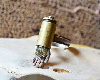 Trigger Finger Ring Made With Recycled Brass Case
