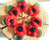 POPPIES woolen bobbies Repurposed Goods For Your Hair