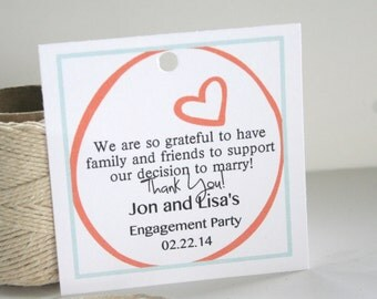 Wedding Party Favor for Engagement Party or Bridal Shower