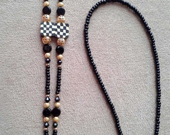 Handmad by me MacKenzie-Childs Inspired Courtly Check Eyeglass Chain