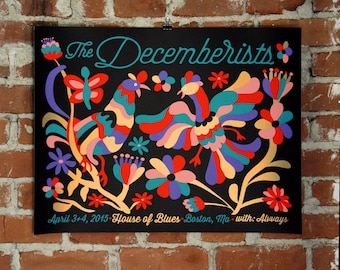 The Decemberists - Official Poster- Boston, MA