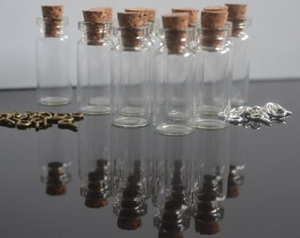 10  tiny vial glass  bottles 1.4ml