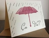 Ca Va - 12-Pack Gocco Screen-Printed Greeting Cards