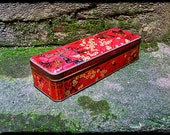 Tin Box Vintage French Art Deco Style