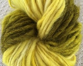 Yellow ombre self-striping handspun yarn tricolor three colors striped yellow mohair wool rustic simplistic simple canary bright sunny felt