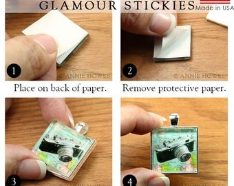 50 Pack Glass Pendant Adhesive. Sticky Shapes Are An Alternative to Glaze for Pendant Trays. Dry Adhesive. Glamour Stickies.