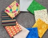 Fabric Destash no. 143, 144 -- 9 Fat Quarters