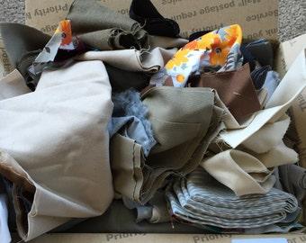 Fabric Destash no. 252 -- Box of Dark Scraps