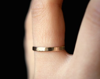 Extra Thick Gold Stack ring, One Single Gold Fill stacking ring, stackable rings, extra thick gold ring, gold ring, thick gold band