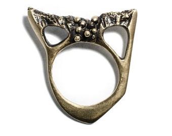 Porterness Studio's Bronze Bunny Darko Ring- Special One Off