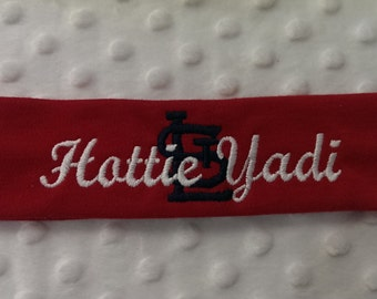 "ST. LOUIS CARDINAL ""Hottie Yadi"" Headband"