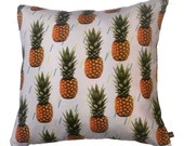 Pineapple Fruit Tropical Exotic Pattern Printed Pillow Cushion