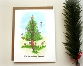 Christmas Card Set - Its The Holiday Season - Holiday Card Set - Cards - Stationery Set