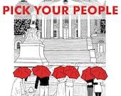 UVA 8x10 print- Pick your couple and umbrella color!