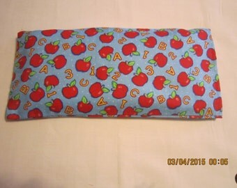 Apples ABC's and 123's* MEDIUM Cozy Comforts (filled with Flax Seed) Heat and Cold Packs (Unscented or Lavender)*