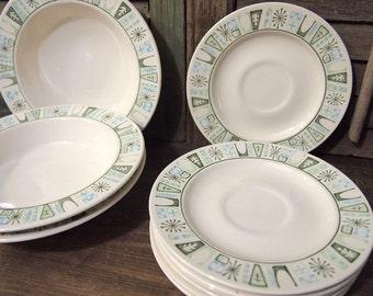 Lot of Taylorstone Cathay retro vintage plates and bowls Retro atomic design