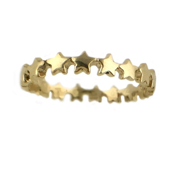 STAR RING eternity silver gold stacking stackable