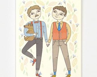 Boy Wedding - Greeting Card