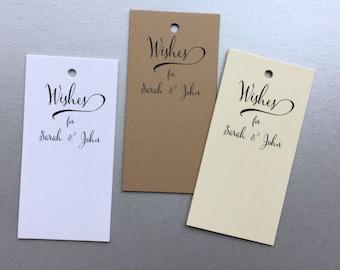 50 Wedding Wish Tags, Personalized Wedding Advice Tags, Wishing Tree Tags, W001