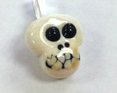 LILY BUG BEADS Handmade Lampwork Skull Essential Oil Diffuser vessel