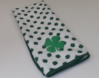 Embroidered Four Leaf Clover Kitchen Towel