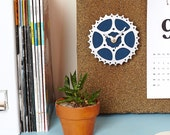 Bicycle Gear Clock - Teal Blue | Bike Clock | Wall Clock | Recycled Bike Parts Clock