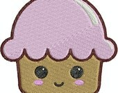 Kawaii Cupcake  - PES INSTANT DOWNLOAD - Machine Embroidery Designs