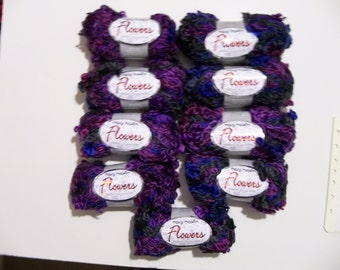 Purple and Blue Flowers Yarn by Mary Maxim