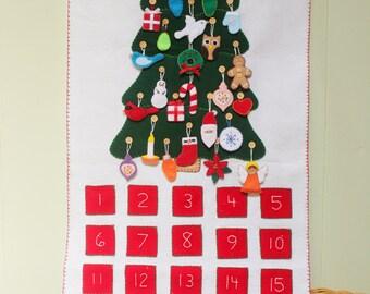 Felt Advent Calendar Pattern: DIY No-Sew, Machine Sew, or Hand Sew