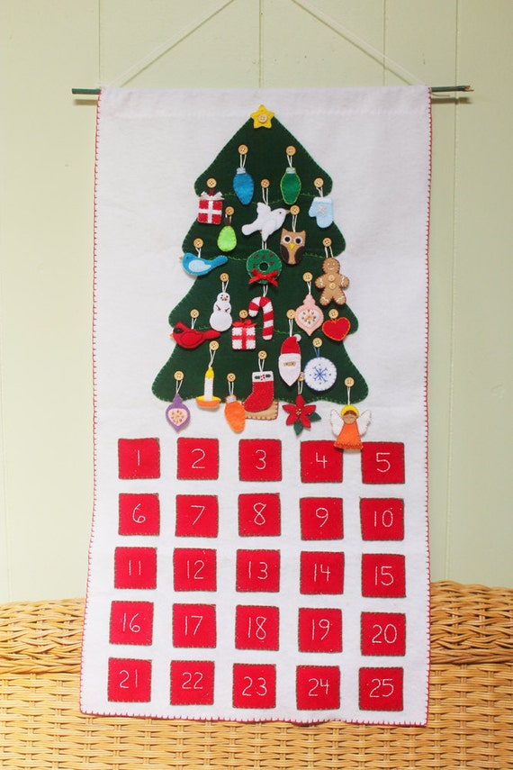Diy Sewing Advent Calendar : Felt advent calendar pattern diy no sew machine or hand