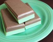 SALE--Mint Chocolate Candy Soap Bar- Andes Mint, Soap Bar, Candy Soap, Chocolate, Mint, Peppermint, Kids Soap, Candy Bar, Minty, LAST ONE