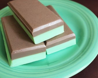 SALE--Mint Chocolate Candy Soap Bar- Andes Mint, Soap Bar, Candy Soap, Chocolate, Mint, Peppermint, Kids Soap, ONLY 2 LEFT