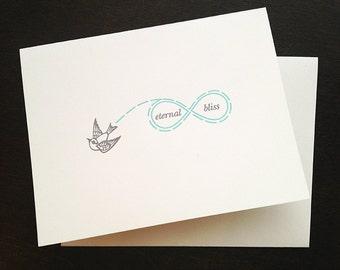Letterpress Eternal Bliss Card