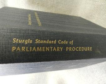 Sturgis Standard Code of Parliamentary Procedure