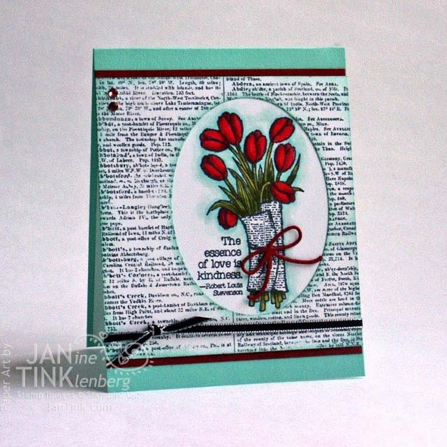 Love Is Kindness Tulips Robert Louis Stevenson Fancy Greeting