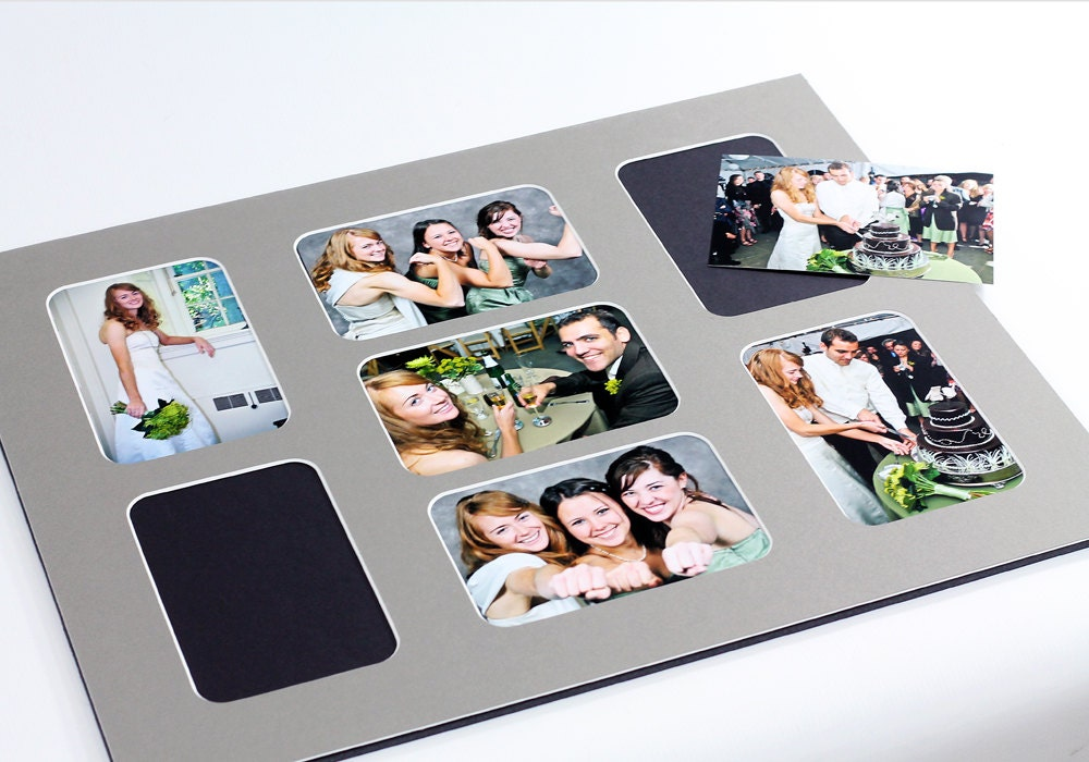 Collage Photo Mat Fits 16x20 Frame Multi Opening Custom