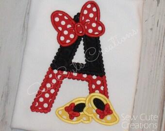 Girl Mouse shirt, Mouse Ears shirt, Mouse Girl shirt, Mouse initial shirt, Girl Mouse outfit, Mouse birthday shirt, sew cute creations