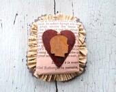 Heart Brooch - Repurposed Vintage