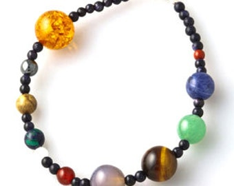Solar System Beaded Gemstone Planet Bracelet