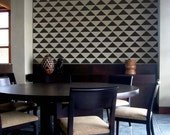 Staggered Triangles Repeat Pattern Wall Stencil- Reusable Craft & DIY Stencils- S1_PA_57 -11x11- By Stencil1