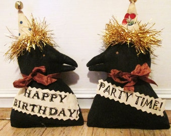 Primitive party Crows Celebrate EuC Dollmakers on etsy